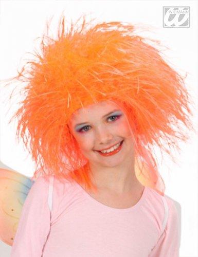 Oranje feeën koningin pruik voor meisjes