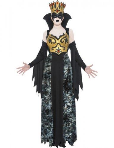 Zwarte koningin kostuum voor vrouwen