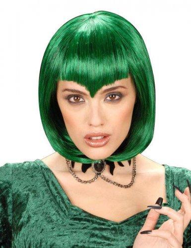 Groene korte vampier pruik