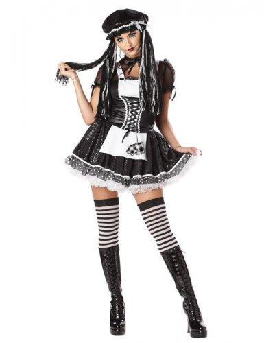 Gothic poppen kostuum voor vrouwen