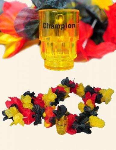 Duitse of Belgische bloemenketting met shot glas