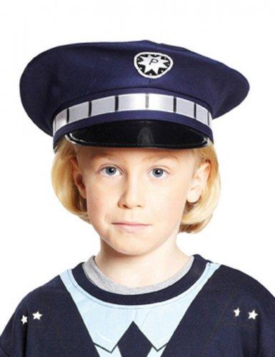 Blauwe politiepet voor kinderen