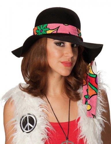 Zwarte hippie hoed voor vrouwen