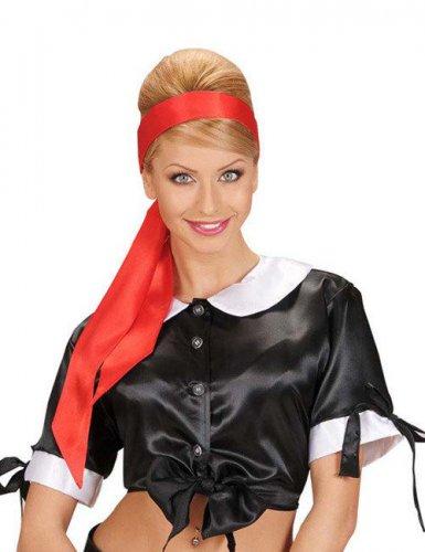 Satijnachtige rode haarband voor vrouwen