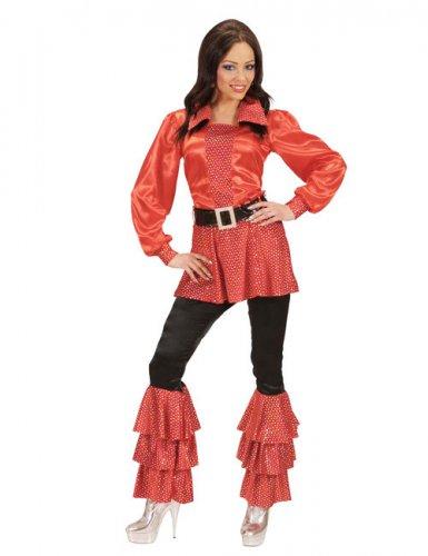 Rood disco kostuum tuniek jaren 70