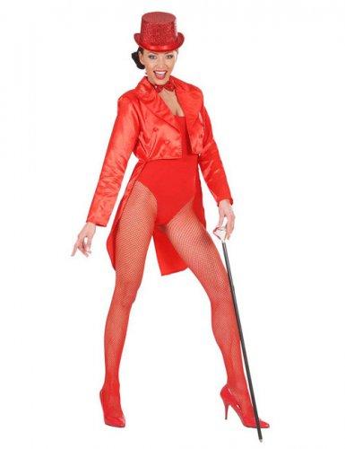 Satijnachtige rode slipjas voor vrouwen