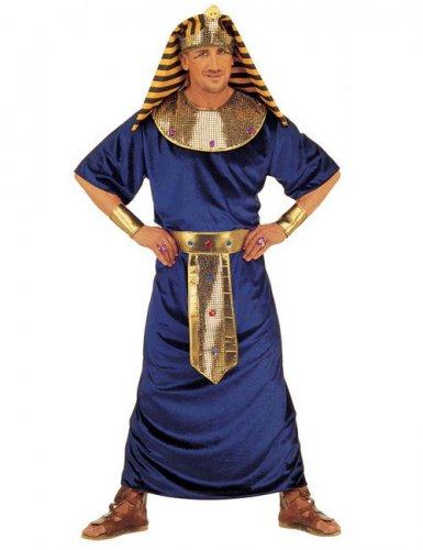 Blauw en goudkleurig Egyptische farao kostuum voor mannen