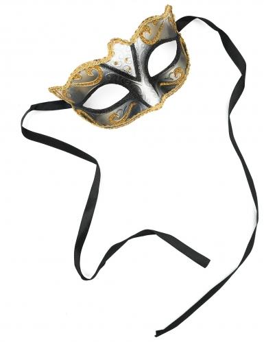 Goudkleurig Venetiaans glitter masker voor volwassenen-1