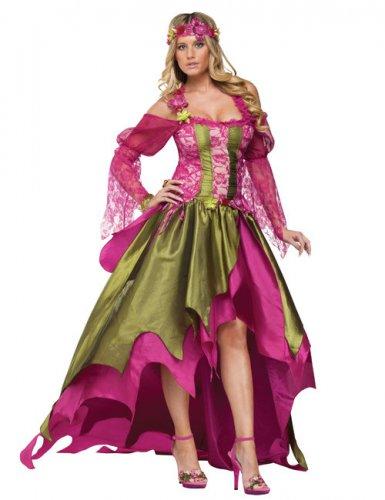 Fee Kostuum Dames.Groen En Roze Middeleeuws Fee Kostuum Voor Vrouwen