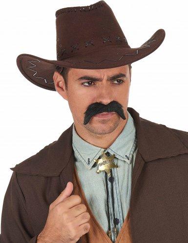 Goudkleurige sheriff ketting voor volwassenen-1