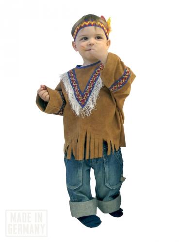 Bruin western indianenkostuum voor kinderen
