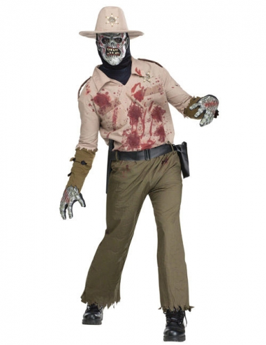 Zombie sheriff kostuum voor mannen