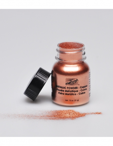 Metallic koperkleurige make-up poeder Mehron™