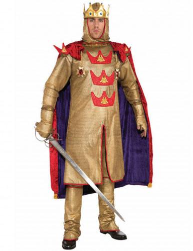 Goudkleurige middeleeuwse koning outfit voor mannen