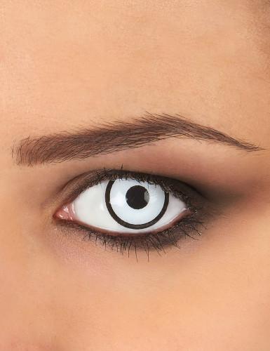 Witte en zwarte contactlenzen voor volwassenen