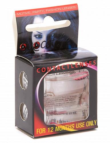 Roze electro contactlenzen voor volwassenen-1