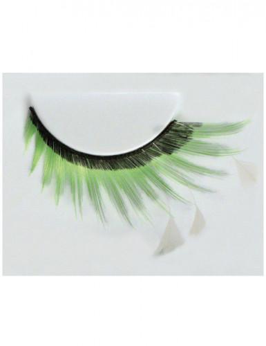 Lange groen zwarte nepwimpers