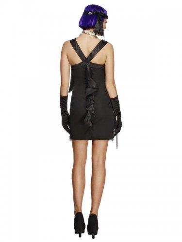 Zwart charleston kostuum met strik voor vrouwen-1