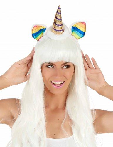Eenhoorn haarband met veelkleurige oren voor volwassenen-1