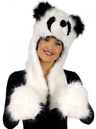 Panda capuchon met handschoenen