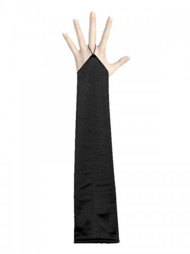 Lange vingerloze satijnachtige handschoenen voor volwassenen