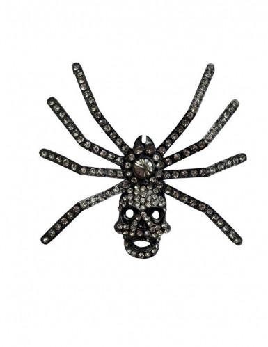 Gothic doodskop spin broche
