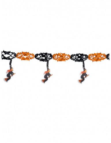 Oranje zwarte heksen slinger