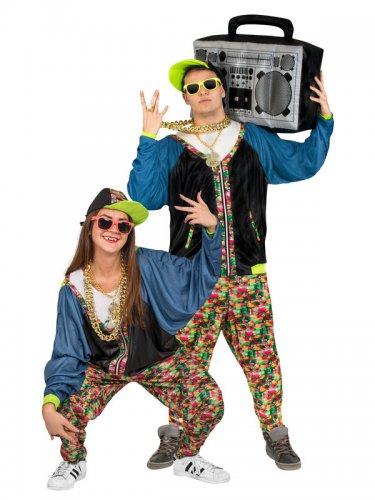 Hip-Hop jaren 80 kostuum voor volwassenen-1