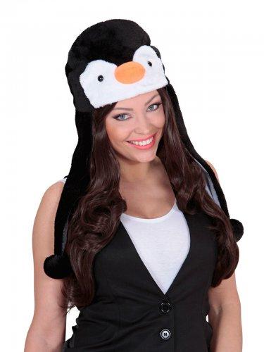 Zwart met witte pinguïn muts