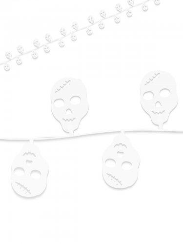 Witte doodskop slinger