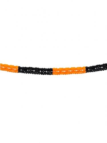 Oranje en zwarte Halloween slinger-1