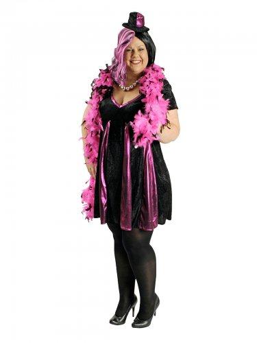 Zwart en roze cabaret kostuum voor vrouwen