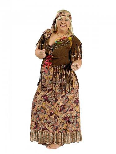 Jaren 60 hippie outfit voor vrouwen - Grote Maten ...