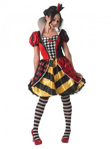 Alice in Wonderland™ hartenkoningin kostuum voor vrouwen