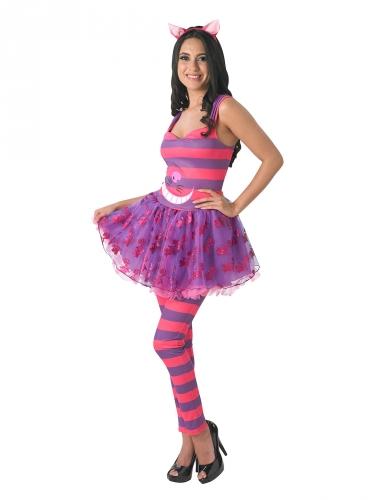 Alice in Wonderland™ Cheshire Cat kostuum voor vrouwen