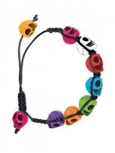 Veelkleurige Dia de los Muertos armband