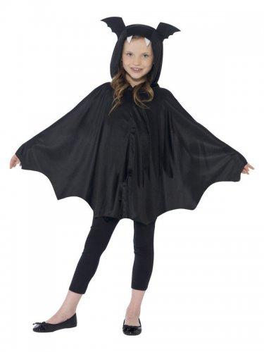 Zwarte vleermuis poncho voor kinderen-1