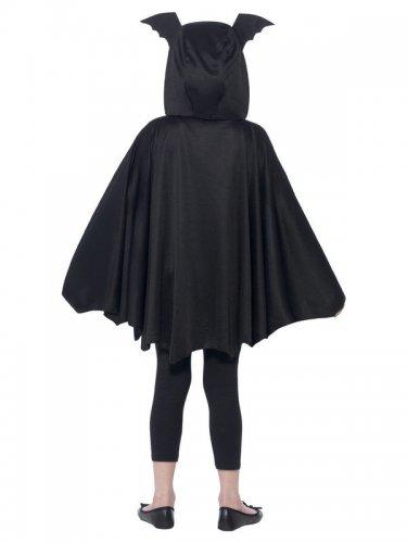 Zwarte vleermuis poncho voor kinderen-2