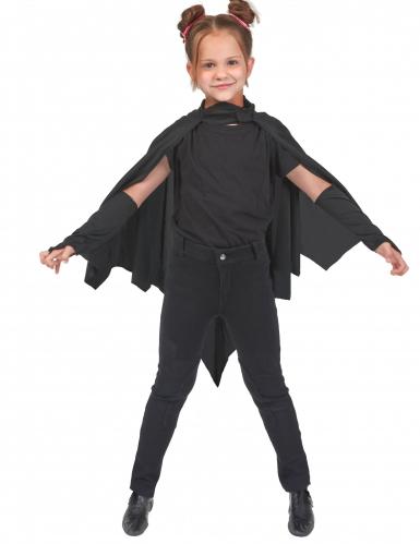 Zwarte vleermuis cape voor kinderen