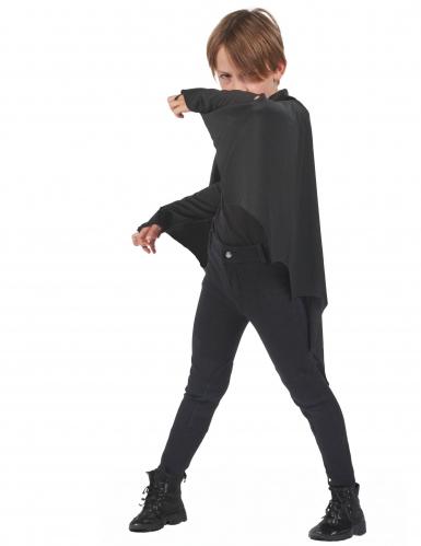 Zwarte vleermuis cape voor kinderen-1