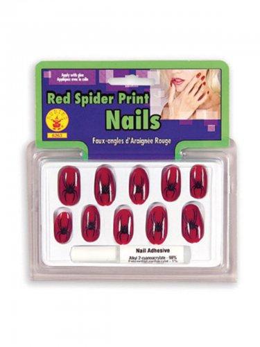 Heksen nep nagel set met spinnen