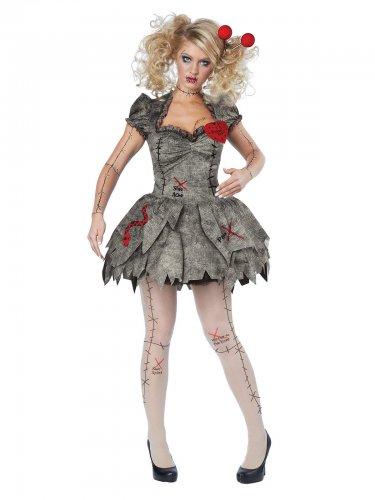 Voodoo pop kostuum met legging voor vrouwen