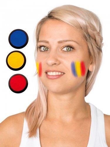 Supporter schmink blauw geel rood