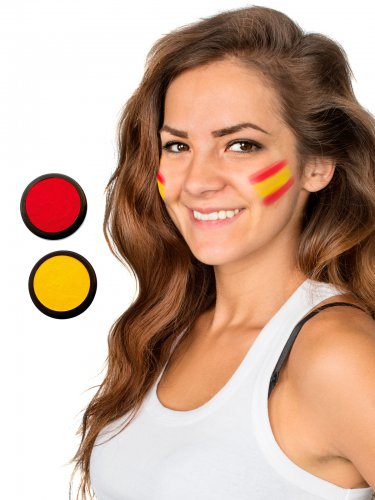 Rode en gele Spanje schmink set