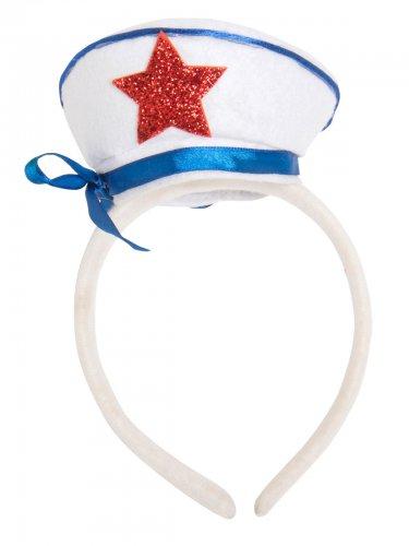 Matrozen hoed op haarband voor volwassenen
