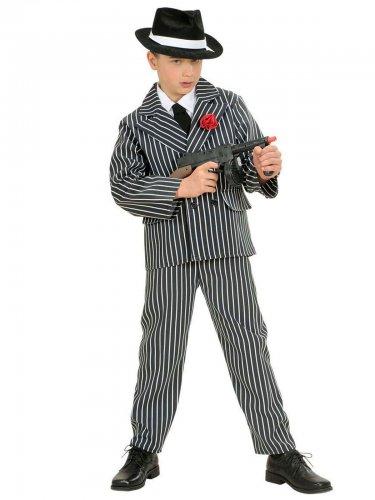 Zwart-wit gangster kostuum voor jongens