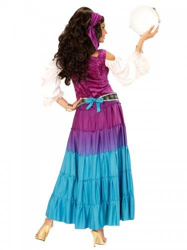 Veelkleurig zigeuner kostuum voor vrouwen-1
