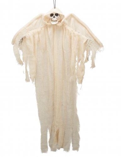 Witte skelet engel ophangdecoratie