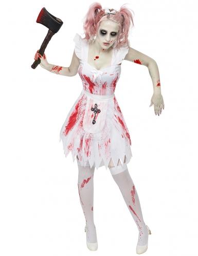 Zombie bruidsmeisje kostuum voor vrouwen