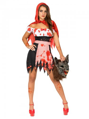 Zombie roodkapje outfit voor vrouwen